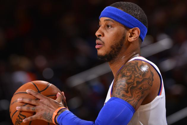 Carmelo Anthony Breaks Knicks Team Record for Points in a Game