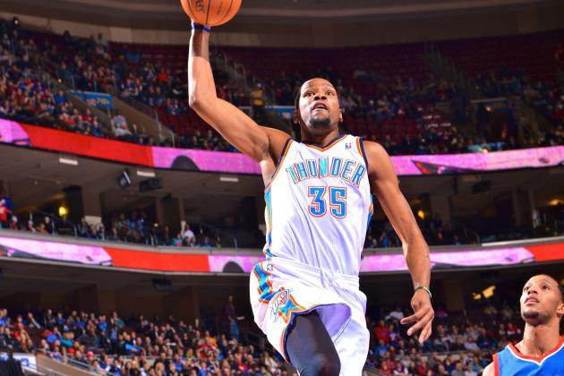 Kevin Durant Gets Triple-Double Against 76ers While Continuing 30-Point Streak