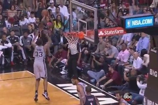 LeBron James Makes Tough Shot over Backboard from Baseline