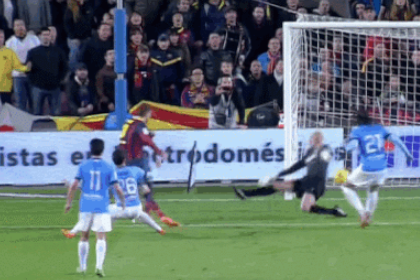 GIF: Gerard Pique Gives Barcelona the Lead Against Malaga