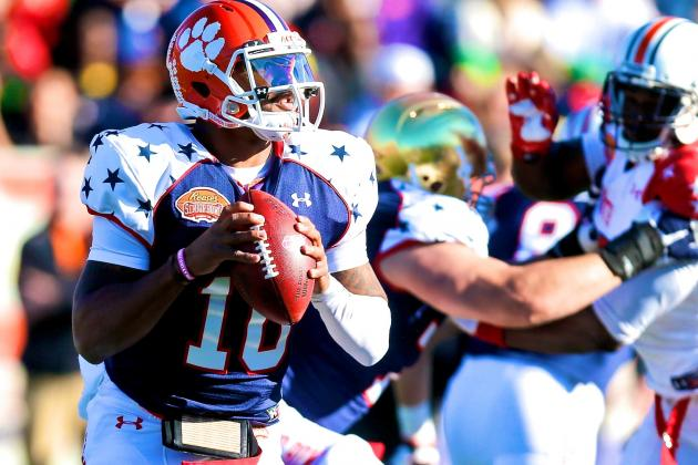 Tajh Boyd Senior Bowl: Clemson QB's Draft Stock Continues to Plummet