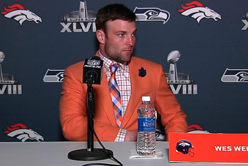 Broncos' Wes Welker Shows off Team Spirit with Awesome Suit
