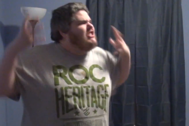 Wrestling Fan Loses His Cool over the Royal Rumble for the Second Year in a Row