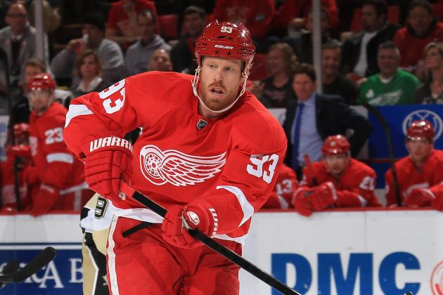 Johan Franzen out Again for Detroit Red Wings
