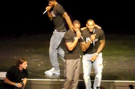 Heat Players Entertain with Singing Performances at 'South Beach Battioke'