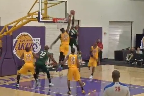 D-Leaguer Ra'shad James Puts 7-Foot Defender on Posters with Two Huge Dunks