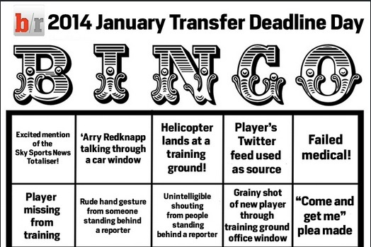 Play B/R's January Transfer Deadline Day Bingo Game