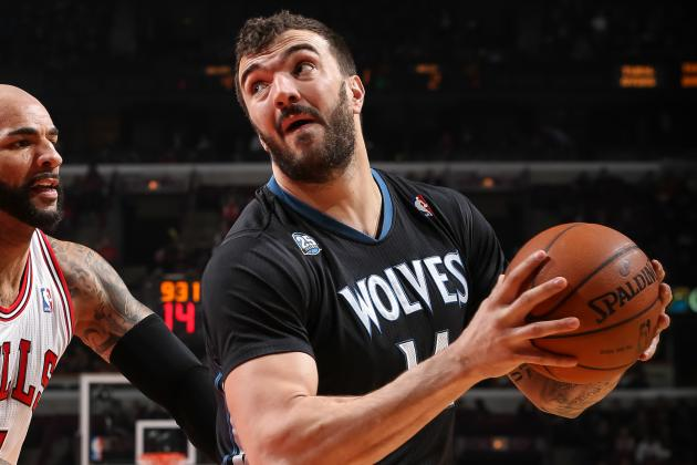 Pekovic out 7-10 Days with Bursitis in Right Ankle