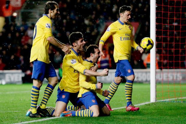 Southampton vs. Arsenal: Live Player Ratings for the Gunners