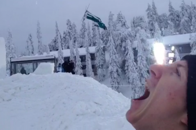 Olympic Skier Travis Gerrits Eats Fellow Olympian with Help of Vine Magic