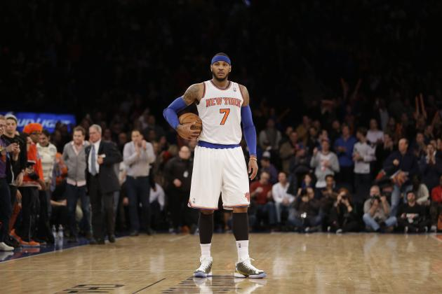 NY Knicks Star Carmelo Anthony Scores 19,000th Career Point