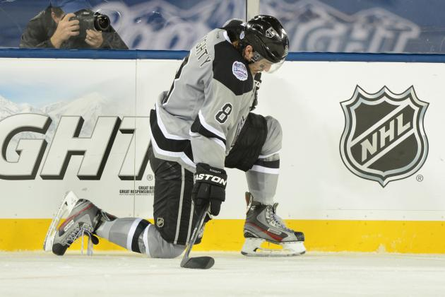 Video: Doughty Lands Hip Check on OEL, Catches Official Too