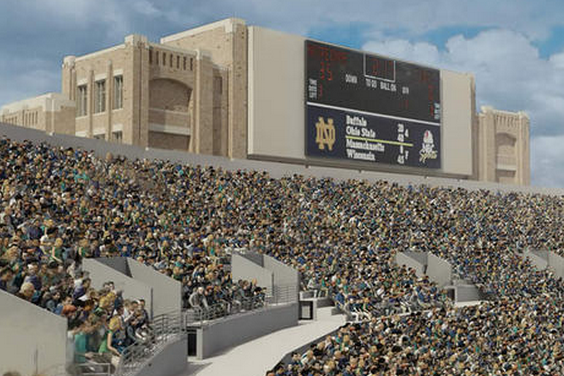 Notre Dame Unveils $400 Million Expansion Around Football Stadium