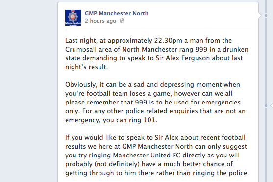 Drunk Man Who Rang 999 for Alex Ferguson Explains His Actions