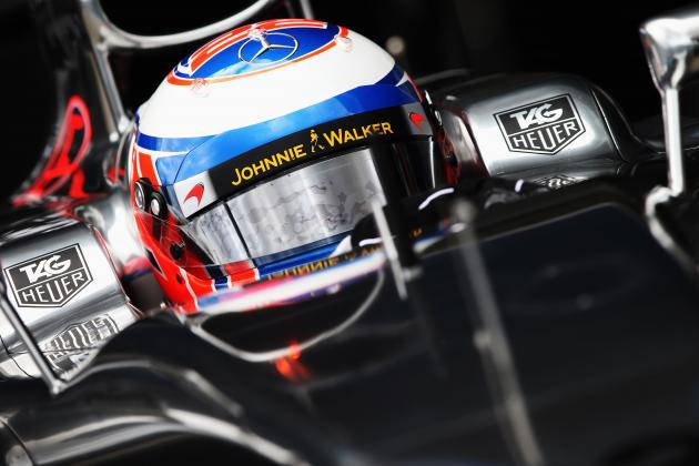 Jenson Button's Helmet Tribute to Father John During McLaren's Test at Jerez