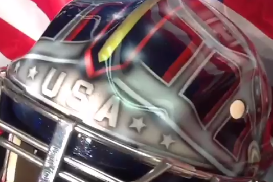 Jonathan Quick Unveils Mask for Team USA Hockey