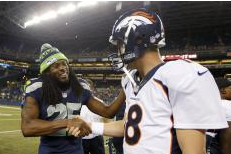 Peyton Downplays Idea That He'll Stay Away from Sherman