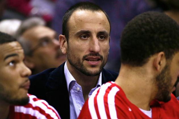 Manu Ginobili Injury: Updates on Spurs Guard's Hamstring and Return
