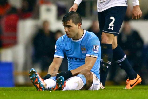 Manchester City Go Top of the Table but Injury to Sergio Aguero Sours Victory