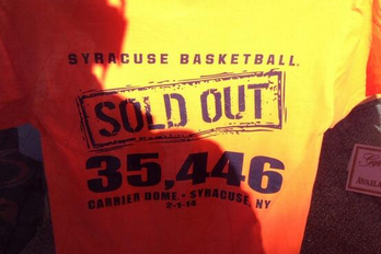 Syracuse Store Already Selling Attendance Record Shirts