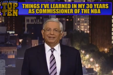 David Stern Shares Commissioner Lessons on David Letterman's Top Ten