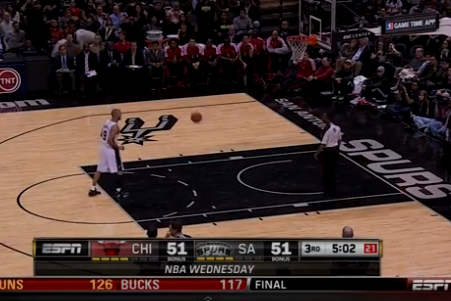 Tony Parker's Free Throw Gets About Halfway to Rim
