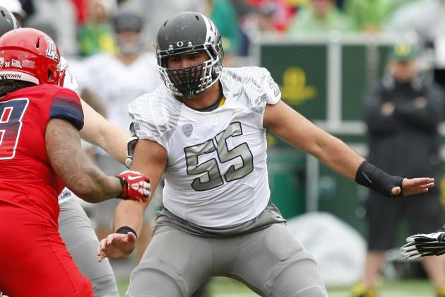 Oregon Football: Ducks' 2014 O-Line Might Make Offense Best Yet