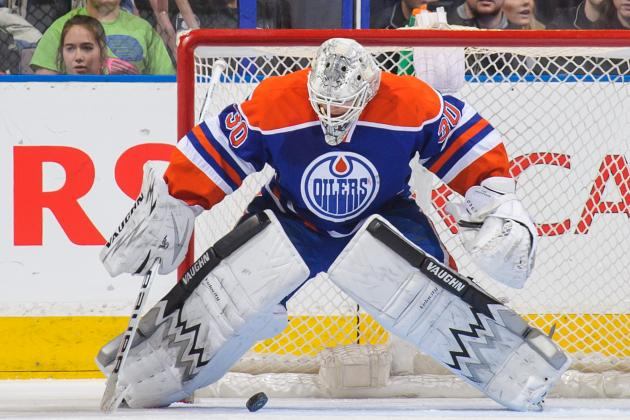 Edmonton's Ben Scrivens Sets NHL Record for Most Saves in a Shutout