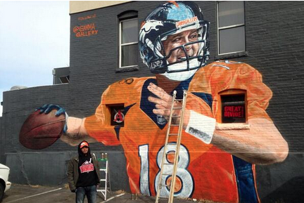 Denver Painting the Town Peyton or Super Bowl