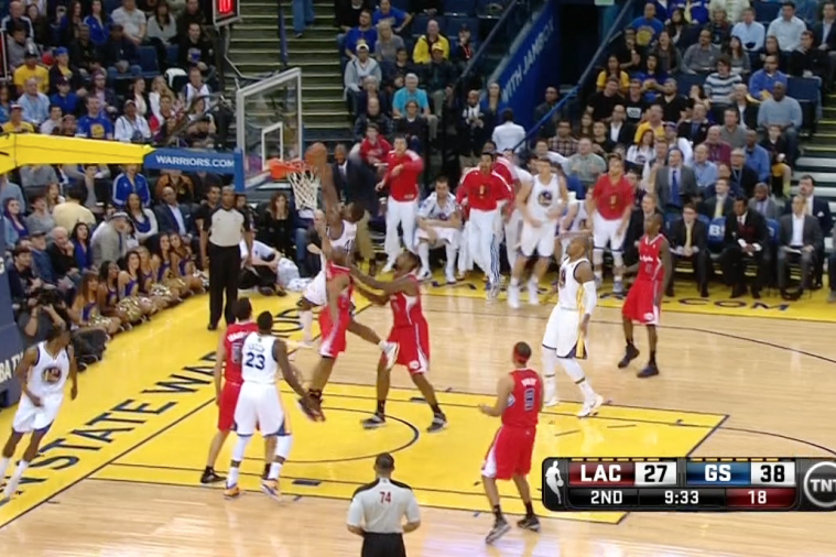 Harrison Barnes Throws Down Huge Dunk Against Clippers, Fires Up Bench
