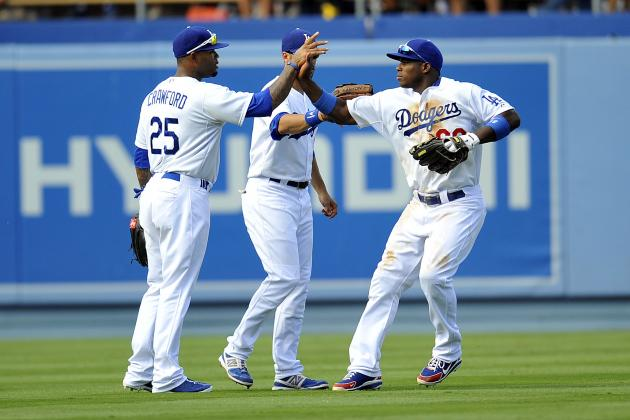 Who Will Be Odd Man out in Dodgers' Star-Studded Outfield Logjam?