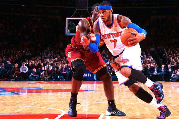 NY Knicks and Carmelo Anthony Come Up Big Again Playing Small Ball