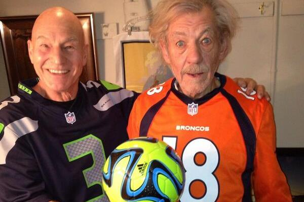 Patrick Stewart and Ian McKellen Love Some Football and Some 'Football'