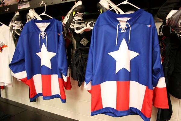 Minor League Hockey Team Shows off Captain America Jerseys