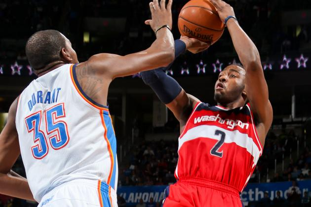 Wizards' John Wall Admits He'd Make a Pitch for Kevin Durant in 2016
