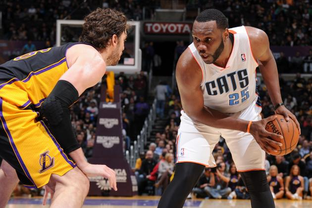 Al Jefferson Scores 40 as Bobcats Triumph over Lakers