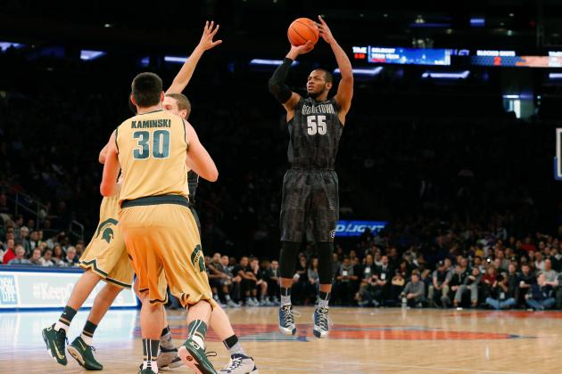 Georgetown Beats No. 7 Michigan State 64-60