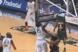 Miami's Garrius Adams Connects with Rion Brown with Monster Alley-Oop