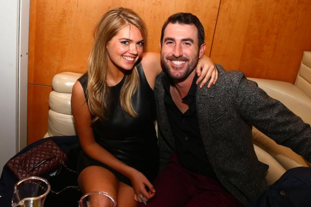 Justin Verlander and Kate Upton 'Cozying Up' at Super Bowl Party