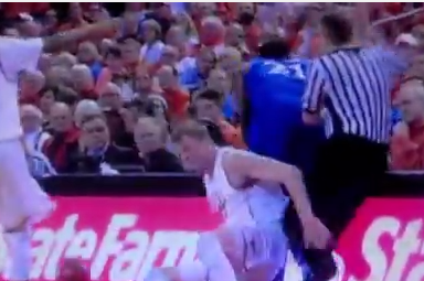 Watch: Ref in KU-Texas Sells Flop