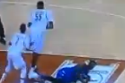 Watch: Embiid Tossed to Floor by Texas' Ridley