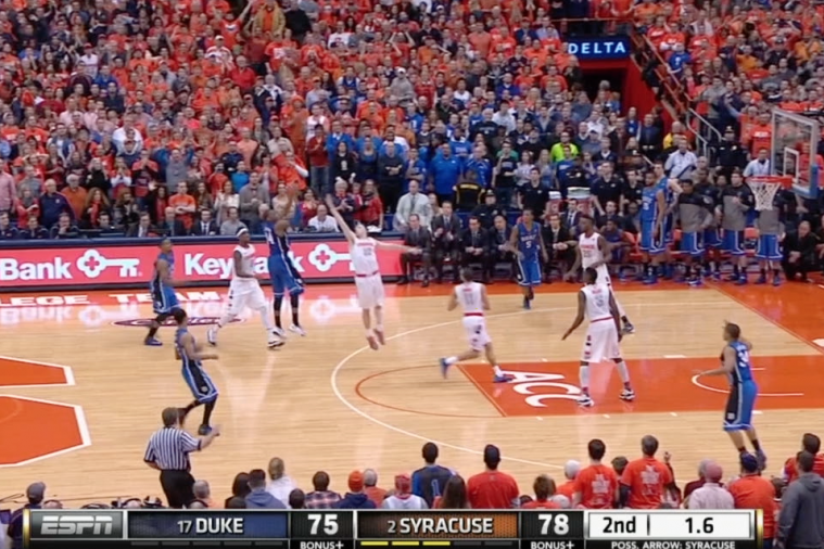 Duke's Rasheed Sulaimon Drains Game-Tying 3-Pointer to Force OT Against Syracuse