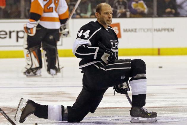 Kings' Robyn Regehr Plays in Game No. 1,000 Saturday