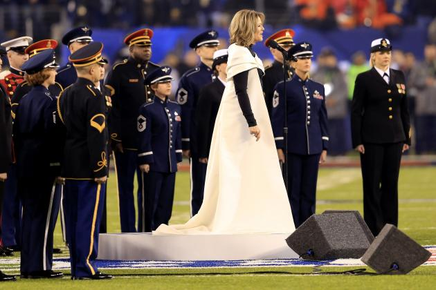 Twitter Reacts to Renee Fleming's 2014 Super Bowl National Anthem Performance