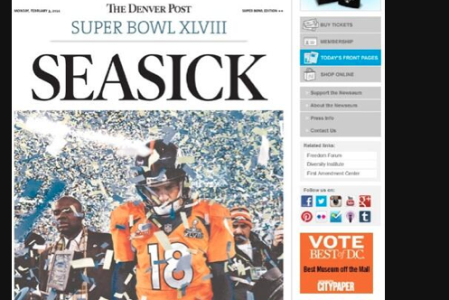 Front Page of Denver Post Says It Best