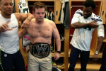 Shirtless Seahawks' GM Rocks WWE Belt After Win