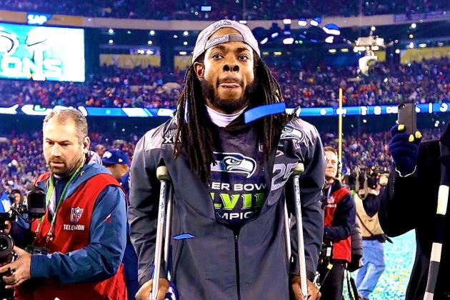 Richard Sherman Touts Classy Gesture by Peyton Manning After 2014 Super Bowl