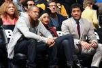 Russell Wilson Sits Courtside with Jay Z, Beyonce
