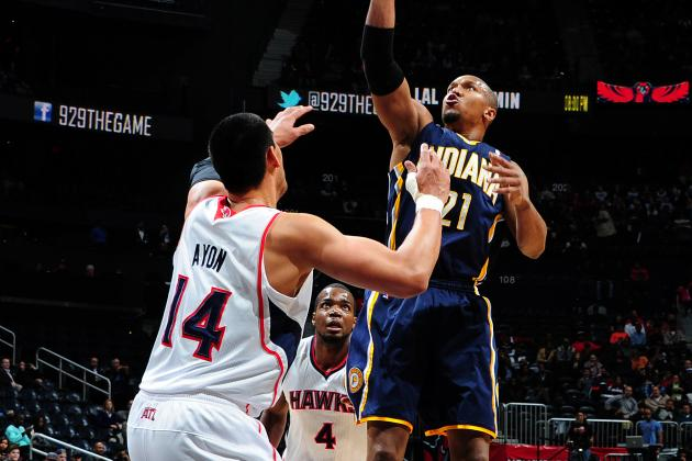West, Pacers Edge Hawks 89-85 in Atlanta