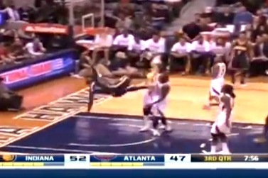 Lance Stephenson Takes Nasty Spill Against Atlanta Hawks